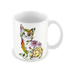 Kat Baxter Rosie Cat 330ml Ceramic Mug