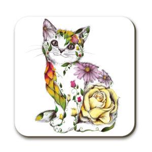 Kat Baxter Rosie Cat Coaster