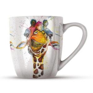 Katherine Williams Splatter Giraffe Bone China Mug