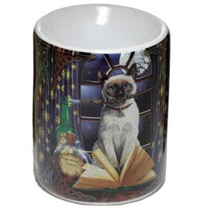 Ceramic Lisa Parker Oil Burner - Hocus Pocus Cat