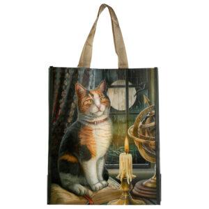 Lisa Parker Adventure Awaits Cat Shopping Bag