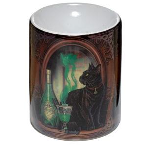 Ceramic Lisa Parker Oil Burner - Absinthe Cat
