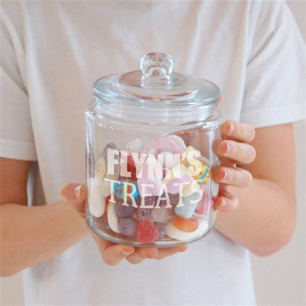 Personalised Treats Glass Jar