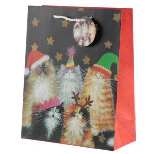 Kim Haskins Cats Design Large Christmas Gift Bags