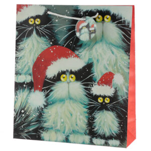 Kim Haskins Cats Design Extra Large Christmas Gift Bags