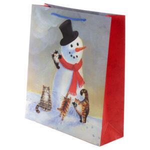 Kim Haskins Cat Christmas Extra Large Gift Bag