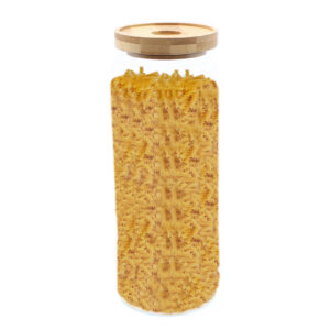 Cottage Bamboo Glass Jar - 20cm