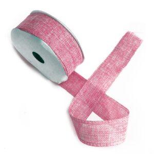 Natural Texture Ribbon 38mm x 20m - Baby Pink