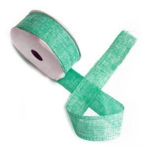 Natural Texture Ribbon - Aqua