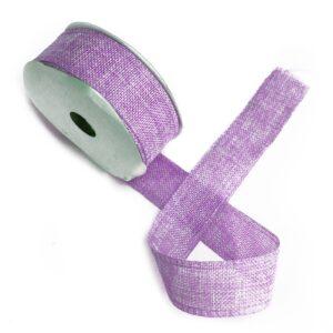 Natural Texture Ribbon 38mm x 20m - Lavendar