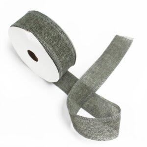 Natural Texture Ribbon 38mm x 20m - Charcoal