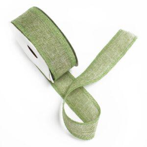 Natural Texture Ribbons Moss Green