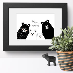 We are Family 'Bear Selfie' - 10 x 8 inch Print