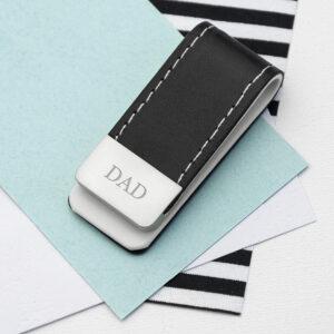 Black Leather Money Clip Serif Font