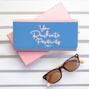 Personalised Radiate Positivity Pink Wallet