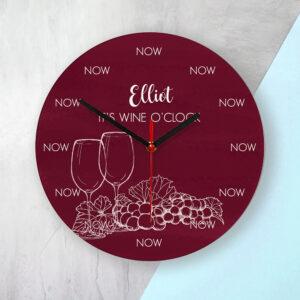 Personalised Wine Glass Clock
