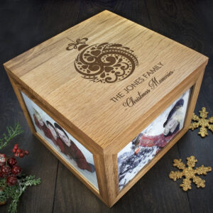 Personalised Christmas Memory Box - Bauble Design
