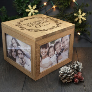 Personalised Our Family Believes Christmas Memory Box