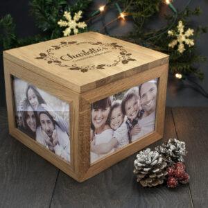 Personalised Christmas Memory Box - Mistletoe Design
